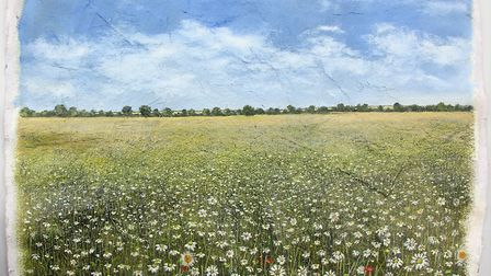 Daisies Field - a painting by Garry Pereira. Image: Garry Pereira