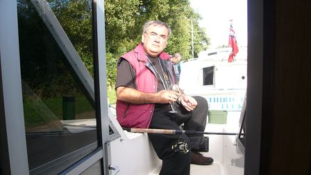 Max Edwards enjoying some down time on a Broads holiday. Picture: Courtesy Max and Jean Edwards