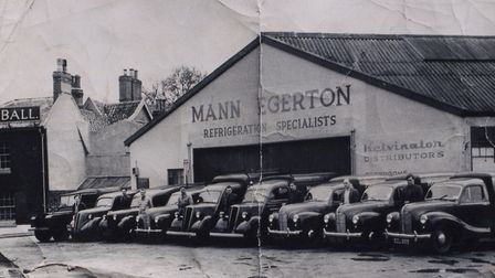 Ready to roll: the refrigeration lads at Mann Egerton prepare to set off from their Woolpack depot i