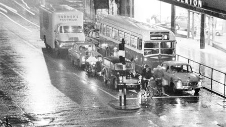 Norwich Streets -- PA photograph when traffic used to travel towards the city along Prince of Wale