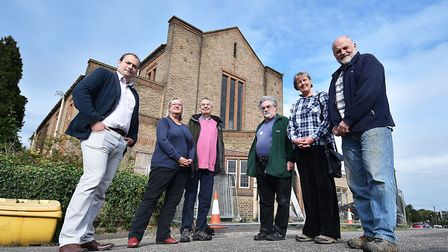 Norwich Green Party members at St Peter's Church in Norwich, where a scheme was rejected over a lack