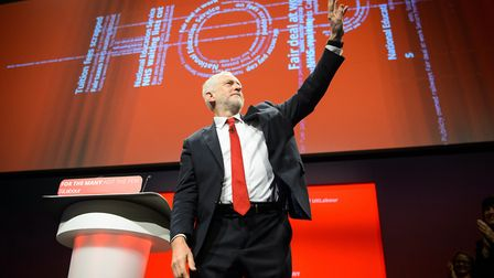 Jeremy Corbyn gives his Leader's Speech during the Labour Party conference in Brighton. Picture date