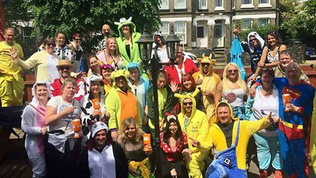 Staff from the region's mental health trust took part in an annual onesie walk, raising money for th
