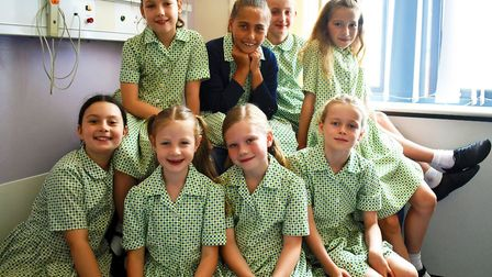 Junior school girls from Norwich High School for Girls have raised more than £5,000 for the maternit