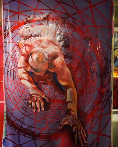 The Last Propagandist by Gennadiy Ivanov at the art exhibition Revolution at the Undercroft. Picture