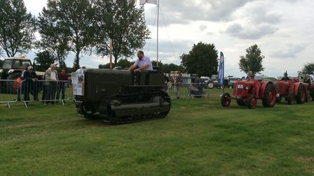 The David Brown DB4 tractor which will be on show at the ploughing event. Photo: Sally Websdale