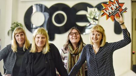 Wow is coming to Norwich next year. (From left) Kelly Rob, Rosie Arnold, Cathryn Fenton and Joanna H