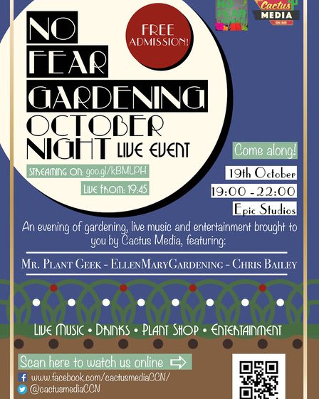 No Fear Gardening live event poster (Picture: Ellen Mary)