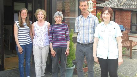 The volunteers at Olive House residential home in Newton Flotman. Picture: Courtesy of Olive House