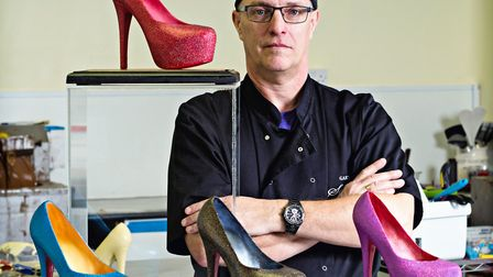 The Saffire Slipper, made by Gary Funnell at Saffire Chocolates.