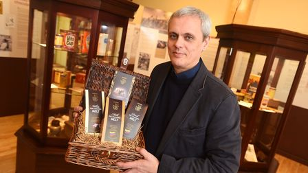 Marimba chocolate shop has opened a museum of hot chocolate in Sudbury. Picture is owner David Wrigh