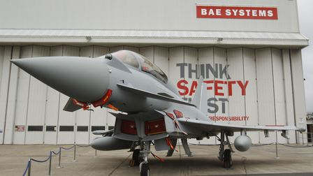 A Eurofighter Typhoon at BAE Systems, Warton Aerodrome, Lancashire. The government is being urged to