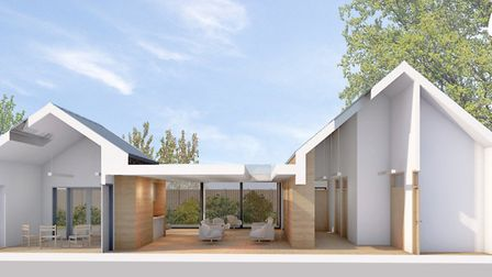 An artist's impression of how the new Information and Support Centre in Halesworth will look. Pictur