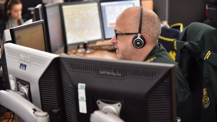 The ambulance control room in Hellesdon. Byline: Sonya Duncan Copyright: Archant 2017