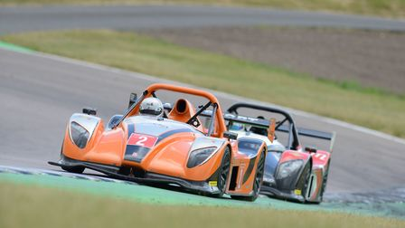 Jack Lang leading the Radical Challenge field at Rockingham Speedway earlier in the year. Picture: O