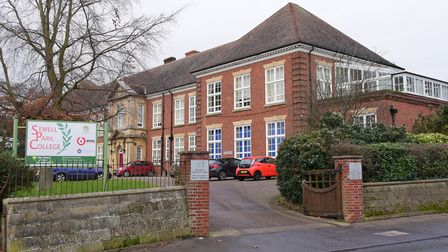 Sewell Park Academy, Norwich.(sign not updated). PHOTO BY SIMON FINLAY