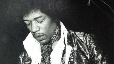 Jimi Hendrix photographed by Richard Snasdell in May 1967 at Spalding, Lincolnshire. He played in De