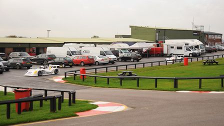 Snetterton Race Circuit. Activity behind the pits. Picture: Denise Bradley