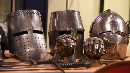 Helmets on show at the Saturday Knight Fever event at Norwich Castle. Picture: DENISE BRADLEY
