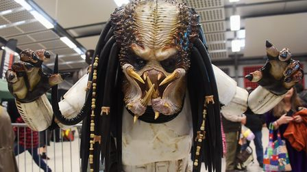 Preditor (Stuart Hezzell) at Nor-Con, the TV, film and comic convention at the Norfolk Showground. P