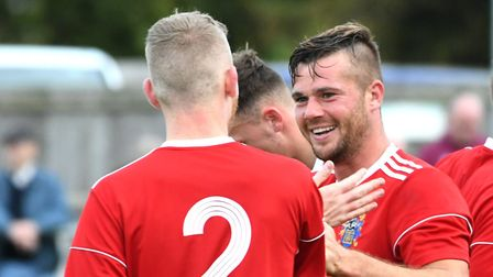 Josh Ford was on target for Wisbech Town. Photo: IAN CARTER