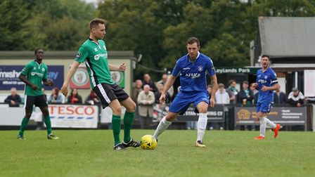 Lowestoft Town player Jacek Zielonka, who was on target at Burgess Hill. Picture: Shirley D Whitlow