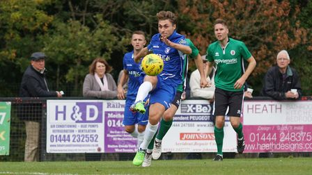 Lowestoft Town player Sam Borrer. Picture: Shirley D Whitlow