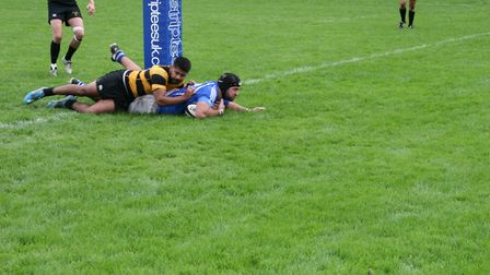 Diss, pictured scoring at Mackenders the previous weekend, picked up another excellent win at Old Pr