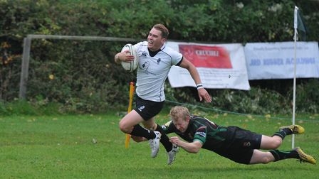 James Wyatt was Woodfordes man-of-the-match for Holt against Woodbridge. Picture: Stuart Young