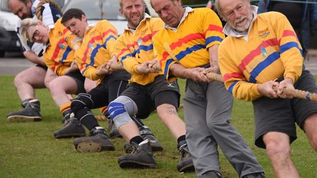 The annual Tug-of-War festival at Kessingland Beach Holiday Park. The team from Thames Valley, Berks