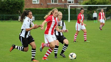 Megan Todd in action for Acle Ladies in their win over Peterborough Northern Star. Picture: Gary Ree