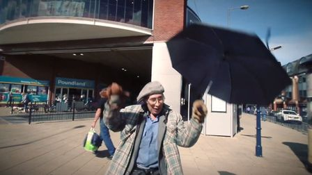 """The video also features well known faces in the town like David Perry or """"The Puppet Man"""". A new mus"""