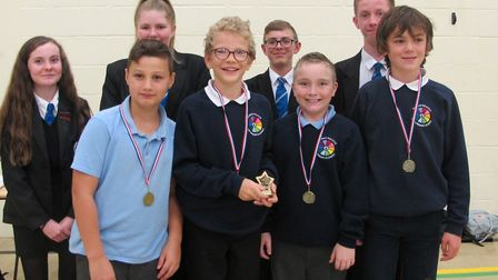 The winners of the Primary Maths Challenge. Picture: Thomas Bullock