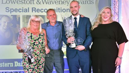 Stars of Lowestoft and Waveney 2017 awards evening at the Ivy House.Special recognition award to Cu