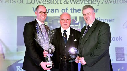 Stars of Lowestoft and Waveney 2017 awards evening at the Ivy House.Veteran of the Year.. Leo Whiss