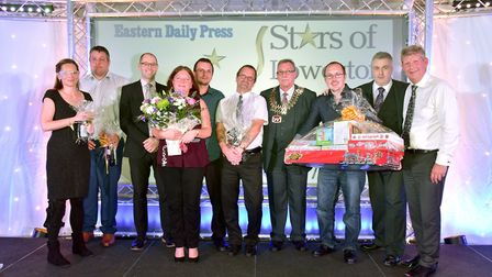 Stars of Lowestoft and Waveney 2017 awards evening at the Ivy House.The family of Sarah Wright reci