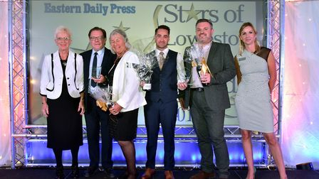 Stars of Lowestoft and Waveney 2017 awards evening at the Ivy House. Community champion of the Yea