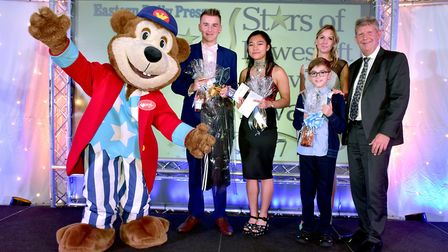 Stars of Lowestoft and Waveney 2017 awards evening at the Ivy House.Young person of the year award