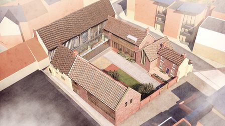 An artist's impression of the National Centre For Writing at Dragon Hall in Norwich. Image: Derek J