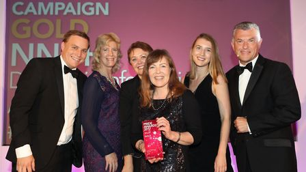 Some of the NNUH media and communications team at the CIPR awards. Photo: NNUH