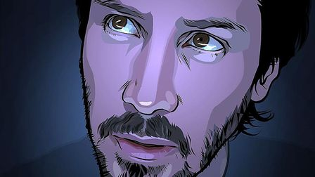 Keanu Reeves in A Scanner Darkly, Richard Linklater's animated take onthe novel of the same name by