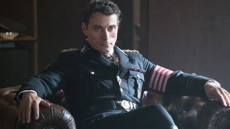 Rufus Sewell in the TV series The Man in the High Castle, based on PHilip K Dick alternative-history