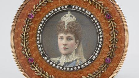Royal Faberg� at the Sainsbury Centre for Visual Arts. Framed photograph of Queen Alexandra, c. 190