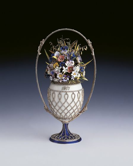 Royal Faberg� at the Sainsbury Centre for Visual Arts. The Basket of Flowers Egg, 1901 Photo: Roya