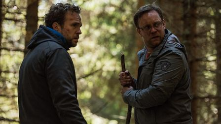 Rafe Spall as Luke and Sam Troughton as Dom in The Ritual. Photo: Entertainment One/Vlad Cioplea