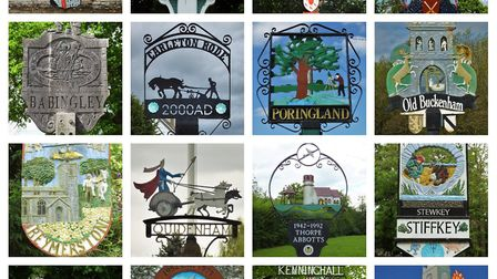 A composite image of some of the signs Andrew Tullett has photographed as part of his Signs of a Nor