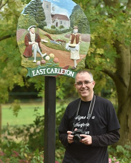 Andrew Tullett has photographed every village sign in Norfolk as part of the Signs of a Norfolk Summ