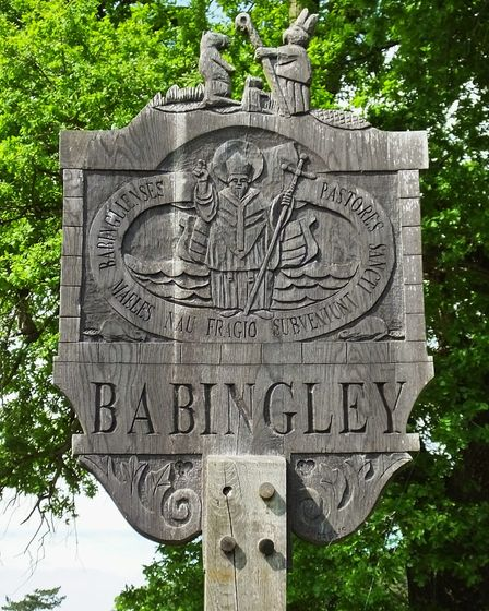 Babingley village sign. Photo taken by Andrew Tullett as part of his Signs of a Norfolk Summer proje