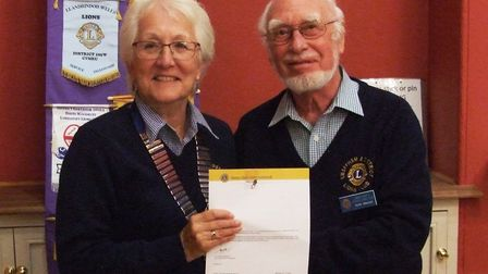 President Pam Tallon at the Lions meeting. Photo: Swaffham and District Lions