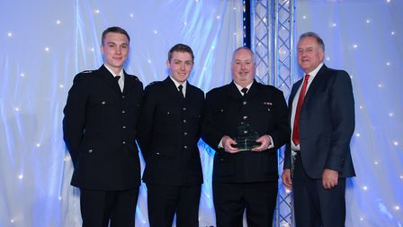From Right: Councillor Stuart Clancy with representatives from Broadland Special Constabulary. Pictu